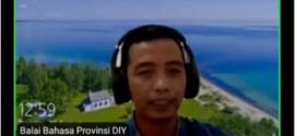 Sosialisasi Daring Kegiatan UKBI dari Balai Bahasa Yogyakarta (BBY) di SMA Negeri 1 Godean